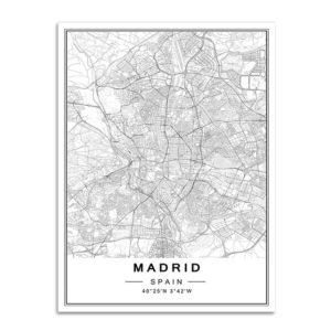 Plakat mapa Madryt