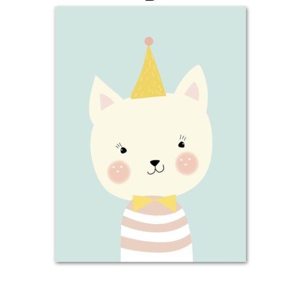 Plakat dla dzieci Urodzinowy Kotek
