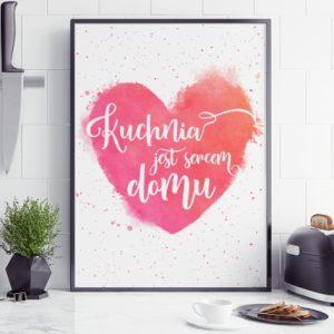 Plakat do kuchni Kuchnia jest sercem