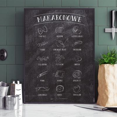 Plakat do kuchni Makarony ciemny