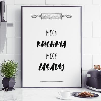 Plakat do kuchni Moje zasady