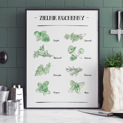 Plakat do kuchni Zioła