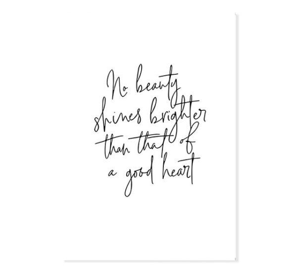 Plakat z napisem No beauty