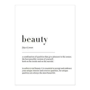 Plakat z napisem Life Definition Beauty