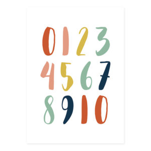 Plakat na ścianę Cyfry Colorful