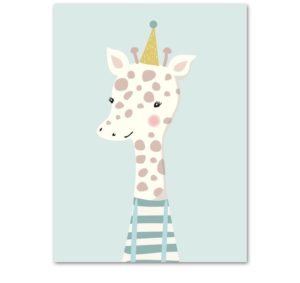 Plakat dla dzieci Urodzinowa Żyrafa