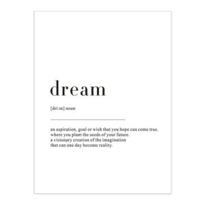 Plakat z napisem Life Definition Dream