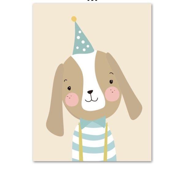 Plakat dla dzieci UrodzinowY Piesek