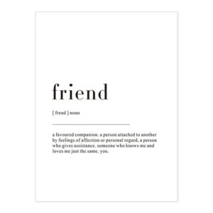 Plakat z napisem Life Definition Friend