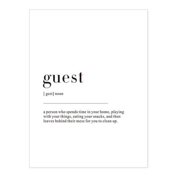 Plakat z napisem Life Guest
