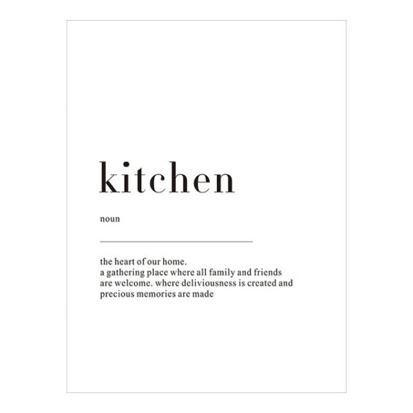 Plakat z napisem Life Definition Kitchen