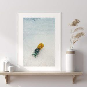 Plakat na ścianę Głębia błękitu Ananas