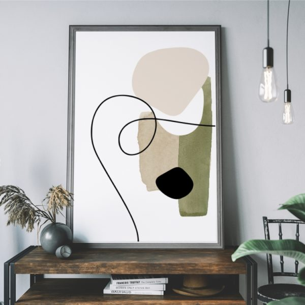 Plakat na ścianę Abstrakcja Kolory Ziemi