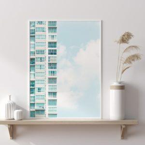 Plakat na ścianę Głębia błękitu Architektura