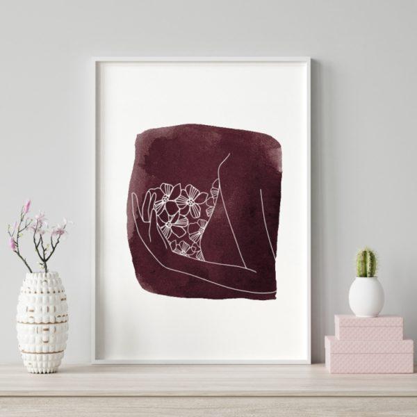 Plakat na ścianę Różany Ogród Kobieta 3