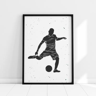 Plakat na ścianę piłkarz