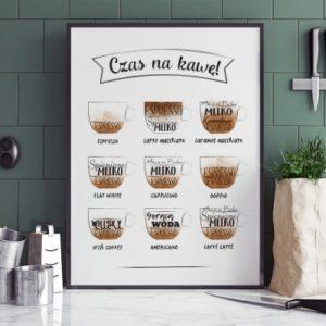 Plakat do kuchni Czas na kawę