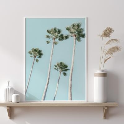 Plakat na ścianę Głębia błękitu Palmy