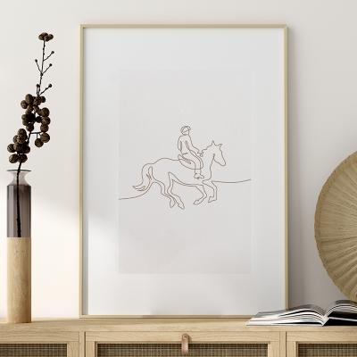 Plakat na ścianę Jeździec