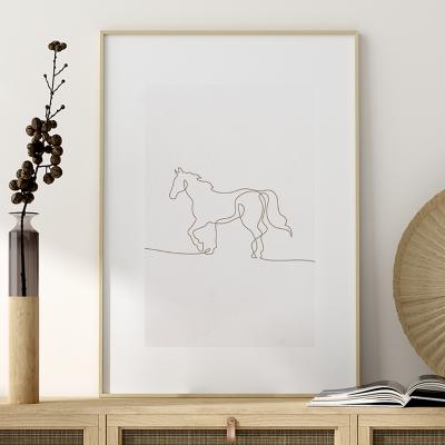 Plakat na ścianę Profil Koń