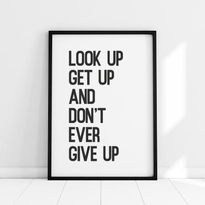 Plakat na ścianę Don't give up