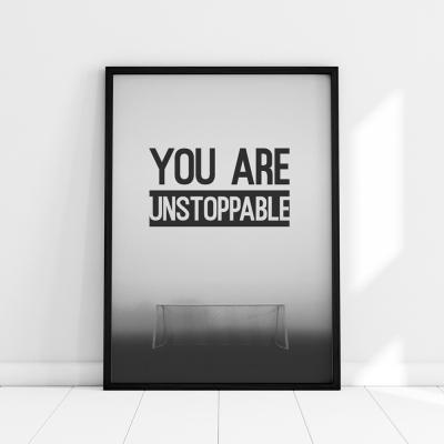 Plakat na ścianę You unstoppable