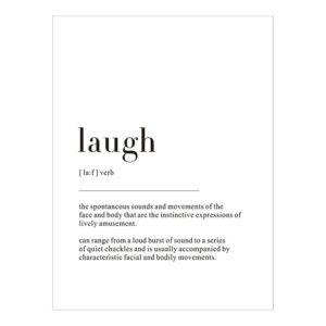 Plakat z napisem Life Definition Laugh
