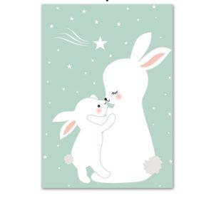 Plakat na ścianę Mama króliczka