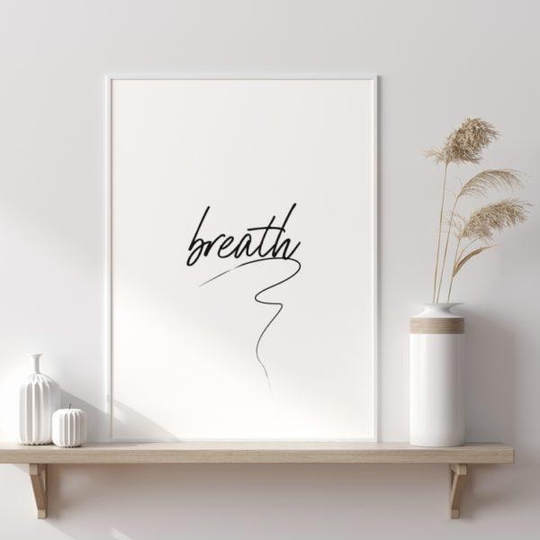 Plakat na ścianę Głębia błękitu Breath