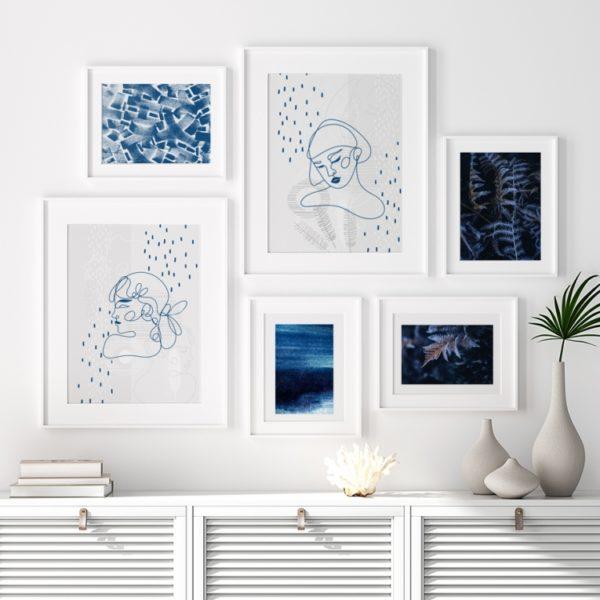 Plakat na ścianę Abstrakcja Klasyczny Niebieski