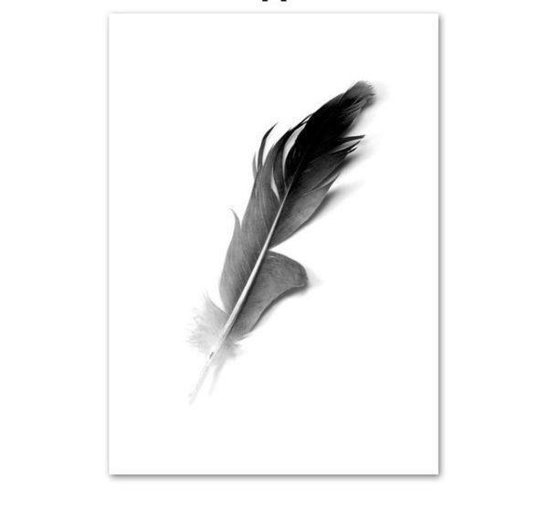 Plakat na ścianę dark feather