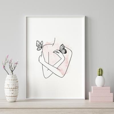 Plakat na ścianę Różany Ogród Kobieta