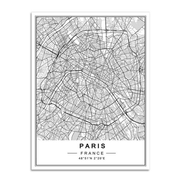 Plakat mapa Paris