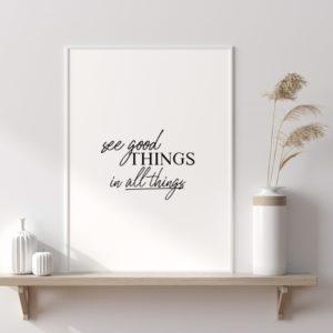 Plakat na ścianę Głębia błękitu See good things