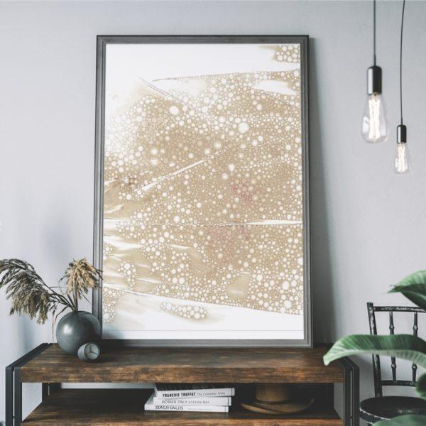 Plakat na ścianę beże Kolory Ziemi