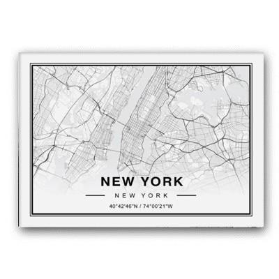 Plakat mapa New York