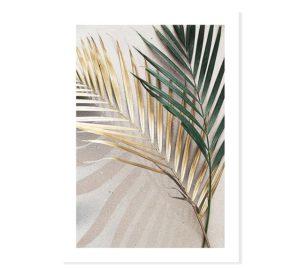 Plakat na ścianę shiny Golden Palms