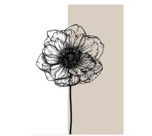 Plakat na ścianę Beige Flower