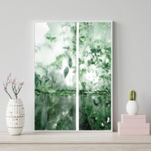 Plakat na ścianę Różany Ogród Okno