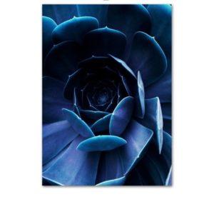 Plakat na ścianę Deep Blue Flower