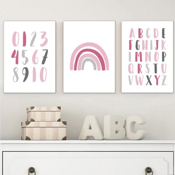 Plakat na ścianę Rainbow pink