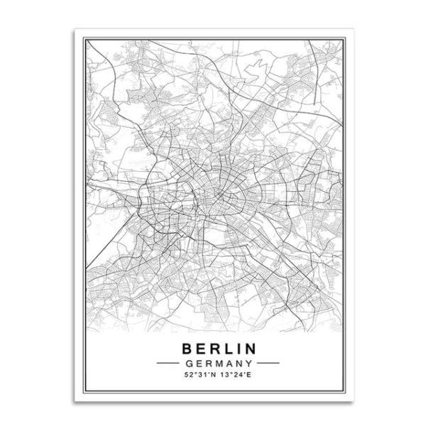 Plakat mapa Berlin