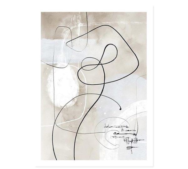 Plakat na ścianę Abstract Beige