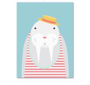 Plakat dla dzieci Mors z kapeluszem