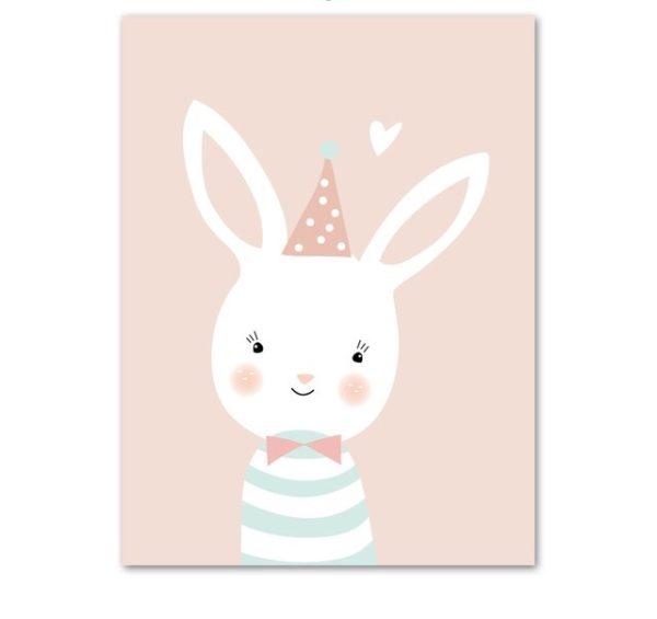 Plakat dla dzieci Urodzinowy Króliczek