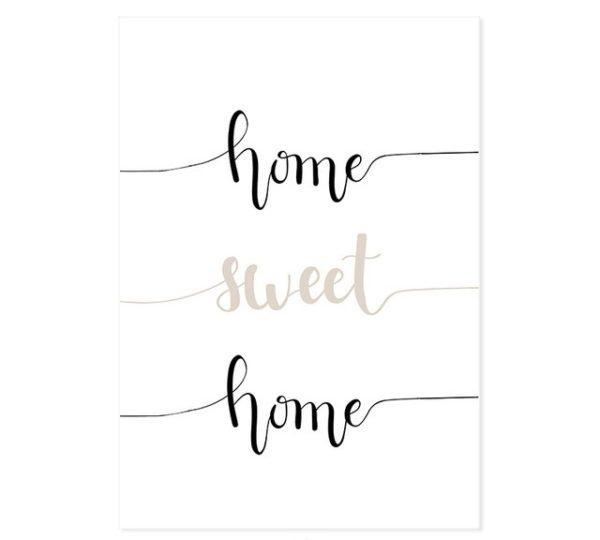 Plakat z napisem Home Sweet Home