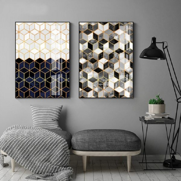 Plakat na ścianę Geometric Marble
