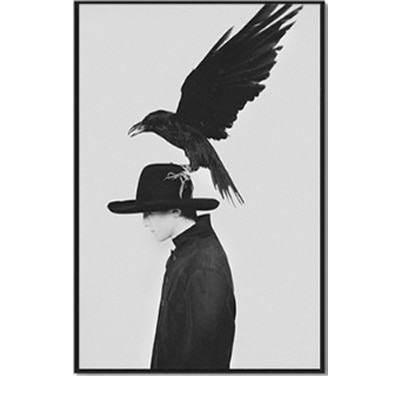 Plakat na ścianę Raven with Man
