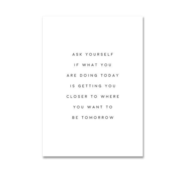 Plakat na ścianę Ask Yourself
