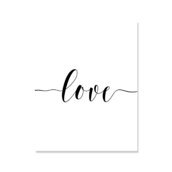 Plakat na ścianę simple love